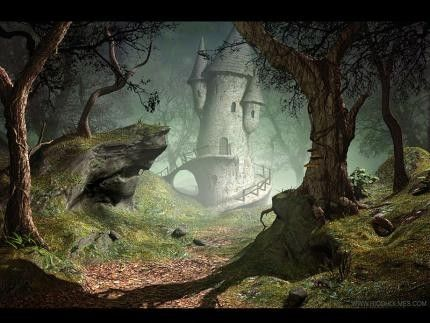 hobbit fantasy forest trees - photo #35
